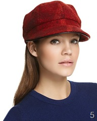 Blurberry Millie wool check hat 225