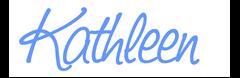 kathleen sign light blue