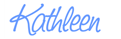 kathleen sign light blue