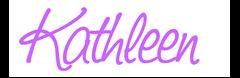 kathleen sign lavendar